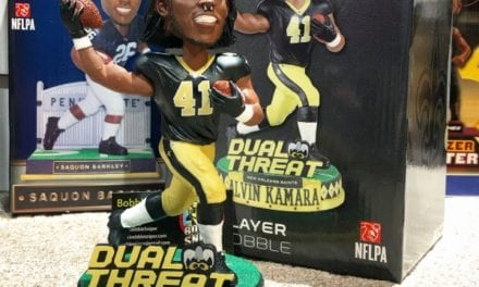 "Bobble of the Day ""Alvin Kamara Duel Threat Bobblehead"
