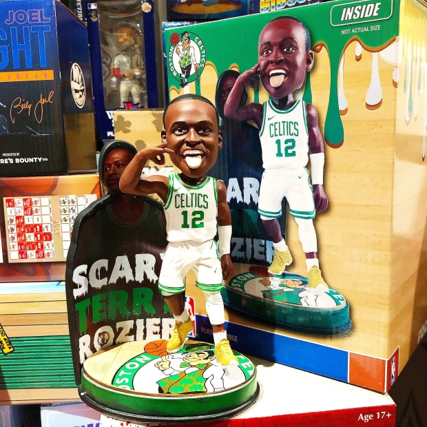 "Bobble of the Day Boston Celtics ""Scary Terry Rozier"" Bobblehead"