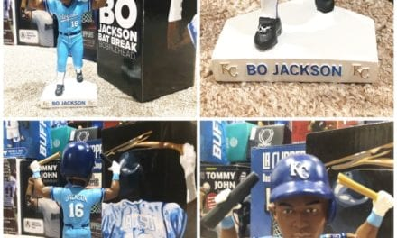 "Bobble of the Day ""Bo Jackson"" Bat Break Bobblehead"