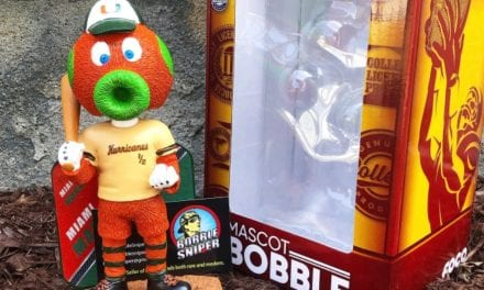 "Bobble of the Day ""Miami Maniac"" Miami Hurricanes Exclusive Bobblehead"
