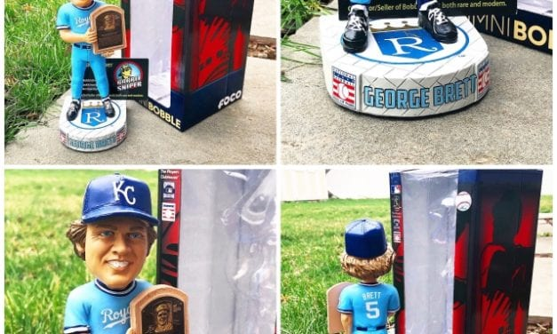 "Bobble of the Day ""George Brett"" Kansas City Royals Alumni Hall of Fame Bobblehead"