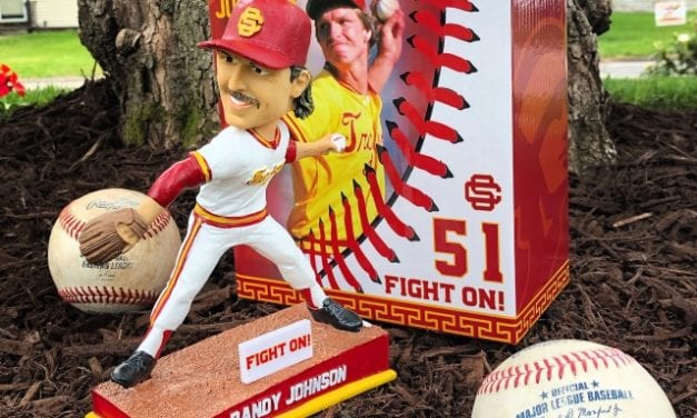 "Bobble of the Day ""Randy Johnson"" USC Trojans SGA Bobblehead"