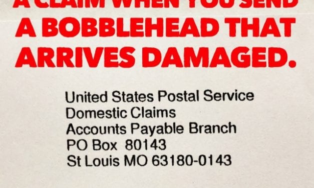 How and when to file a claim when you send a bobblehead that arrives damaged
