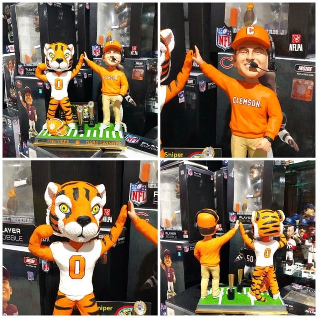 "Bobble of the Day ""Dabo Swinney Clemson Tiger"" Duel Mascot Championship Bobblehead"