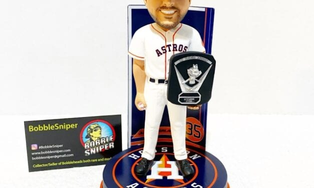 Bobble of the Day Justin Verlander 2019 American League CY Young Bobblehead