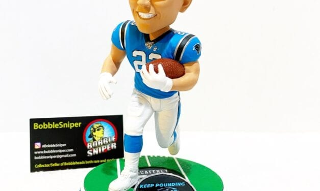 Bobble of the Day Christian McCaffrey Carolina Panthers Exclusive Bobblehead