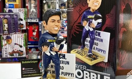 Bobble of the Day Christian Yelich and Yeli Milwaukee Brewers Exclusive Bobblehead