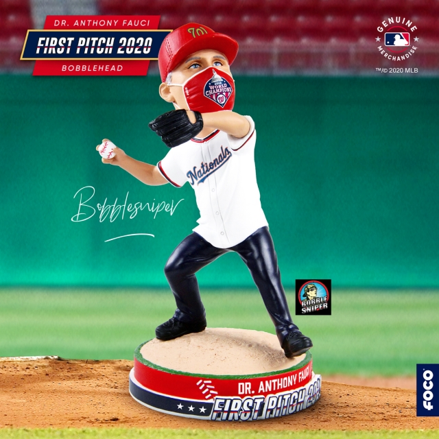Fauci's First Pitch Doesn't Miss the Mark as FOCO Releases Exclusive Bobblehead