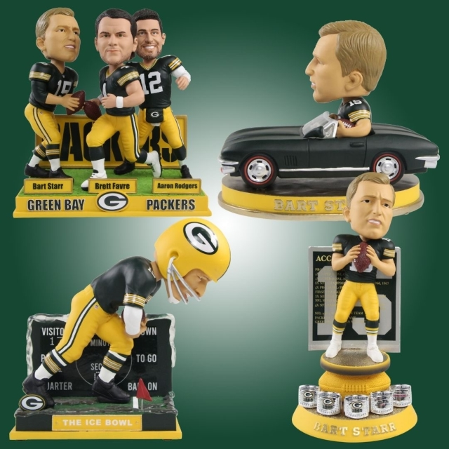 "Bart Starr gets ""Star"" Treatment with 4 Exclusive Bobbleheads"