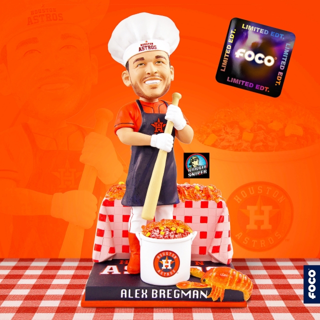 FOCO Brews up a Bregman Crawfish Exclusive Bobblehead