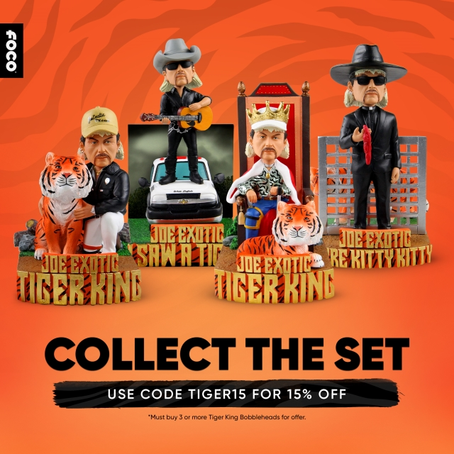 The Tiger King Has Arrived In The Form Of 4 Exclusive Bobbleheads