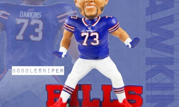 Bills Mafia Scores Big with a Dion Dawkins Exclusive Bobblehead