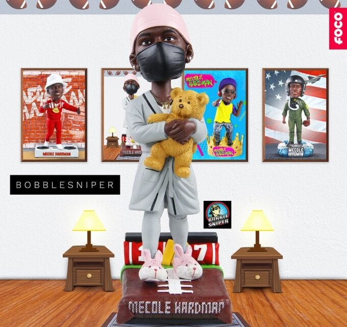 Mecole Hardman Stays Cozy with a Head to Toe Pajama Bobblehead