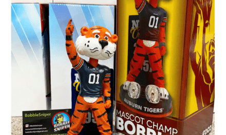 The Bobblehead Hall of Fame Makes a Roar with an Auburn Tigers National Championship Bobblehead