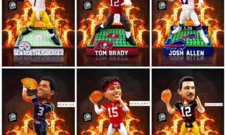 """FOCO STAYS HOT WITH A NEW LINE OF NFL """"ON FIRE"""" BOBBLEHEADS"""