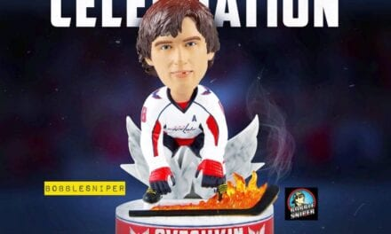 FOCO Warms The Ice Up With An Ovechkin Hot Stick Bobblehead