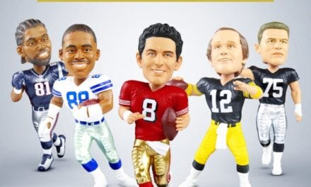 FOCO Showcases 6 New Hall Of Fame NFL Players With A Framed Jersey Bobblehead