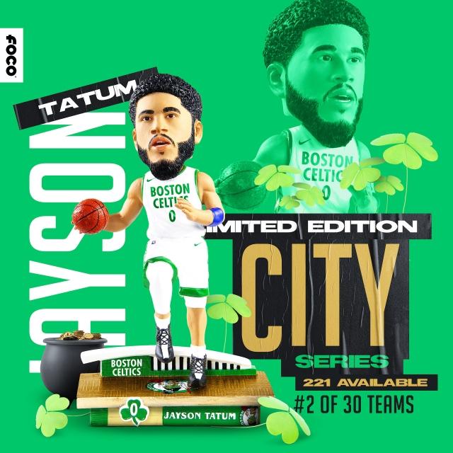 FOCO Strikes Gold With A New Jayson Tatum City Jersey Bobblehead