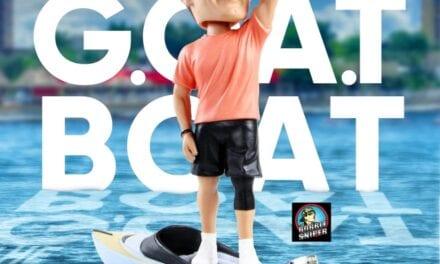Take A Ride On The G.O.A.T Boat With Tom Brady's New Exclusive Bobblehead