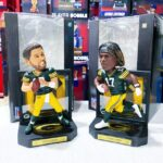 Rodgers And Adams Pave The Way In Their Framed Jersey Bobbleheads